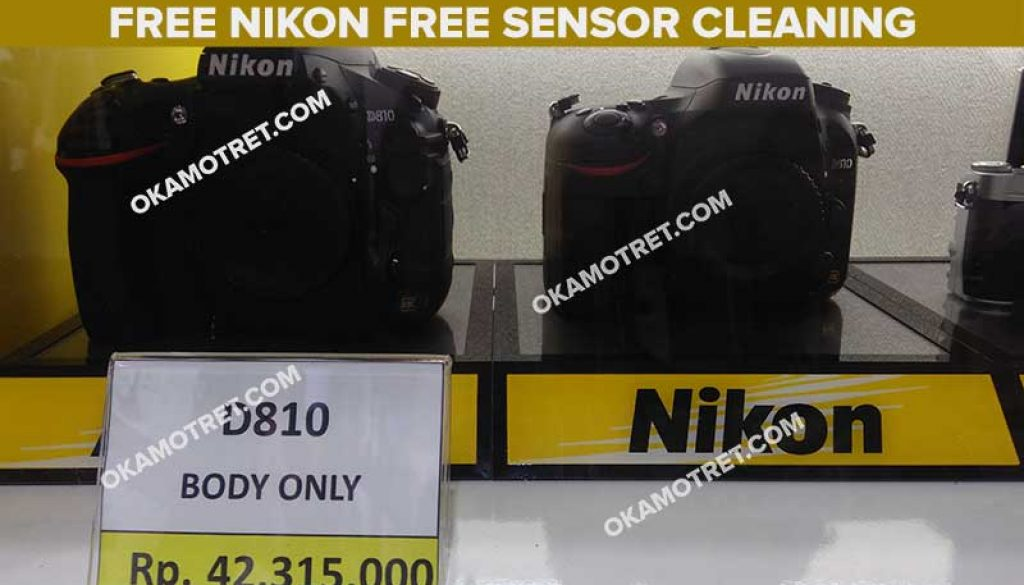 Free sensor cleaning di Nikon Grand Indonesia