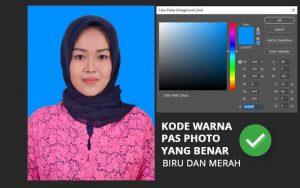 Kode warna pas foto