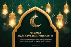 Design Ucapan Selamat Idul Fitri 1441 H