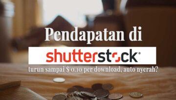 Pendapatan di Shutterstock