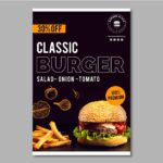 Flyer design burger