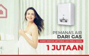 Review, Gas water heater dari Ariston